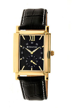 Heritor Frederick Mens Black Strap Watch-Herhr6103
