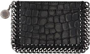 Stella McCartney Black Croc Falabella Card Holder