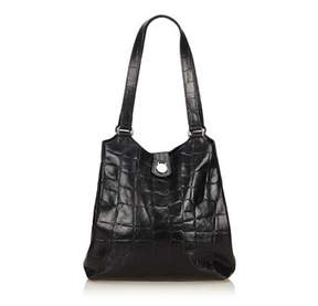 Mulberry Pre-owned: Embossed Leather Shoulder Bag.