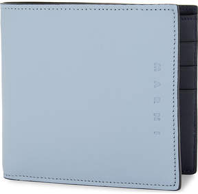 Marni Mens Light Blue & Navy Two-Tone Bi-Fold Leather Billfold