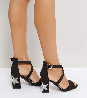 Qupid Star Heel Sandal
