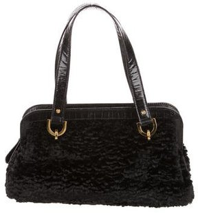 Kate Spade Faux Persian Lamb Handle Bag - BLACK - STYLE