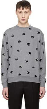 McQ Grey Swallow Sweatshirt
