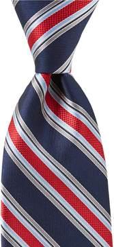 Daniel Cremieux Big & Tall Side Stripe Traditional Silk Tie