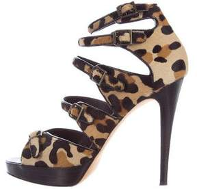 Brian Atwood Ponyhair Caged Sandals