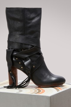 See by Chloe Calf Boots Straps