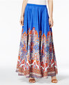 Cable & Gauge Printed A-Line Maxi Skirt
