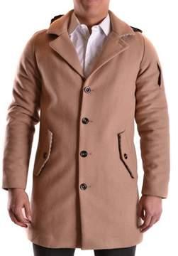 Geospirit Men's Brown Wool Coat.