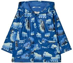 Hatley Blue Mammoth Print Fleece Lined Raincoat