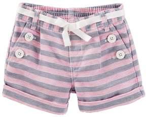 Osh Kosh Oshkosh Bgosh Girls 4-8 Striped Sailor Shorts