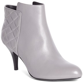 Brooks Brothers Quilted Calfskin Heeled Booties