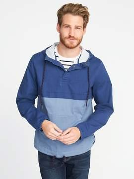 Old Navy Color-Blocked Built-In Flex Pullover Jacket for Men