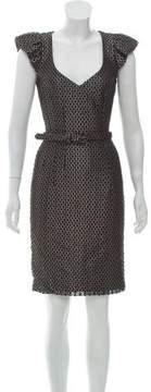 Andrew Gn Brocade Knee-Length Dress
