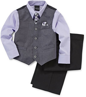 JCPenney TFW 4-pc. Satin Striped Vest Set - Toddler Boys 2t-5t