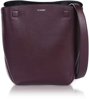 Jil Sander Dark Purple Leather Bucket Bag