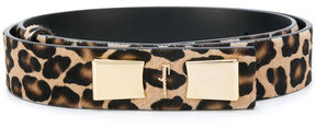 Salvatore Ferragamo leopard pattern logo buckle belt