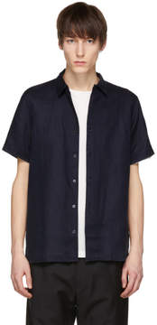 Paul Smith Navy Short Sleeve Linen Shirt