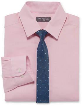 Van Heusen Flex Boys Shirt + Tie Set 8-20 - Reg