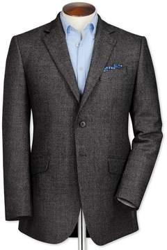 Charles Tyrwhitt Slim Fit Grey Birdseye Lambswool Wool Jacket Size 36