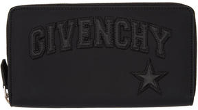 Givenchy Black Embossed Logo Continental Wallet