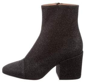 Dries Van Noten 2017 Glitter Ankle Boots w/ Tags