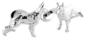 David Donahue Men's 'German Shepherd' Sterling Silver Cuff Links