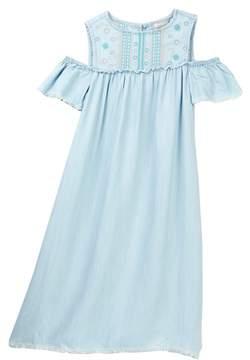 Tractr Cold Shoulder Dress (Big Girls)