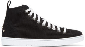 Jimmy Choo Black Suede Colt High-Top Sneakers