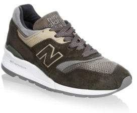 New Balance Pig Suede And Leather Sneakers