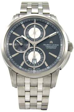 Maurice Lacroix Pontos PT6188-SS002-830 Chronographe Gray Dial 43mm Mens Watch