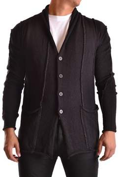 Isabel Benenato Men's Black Wool Cardigan.