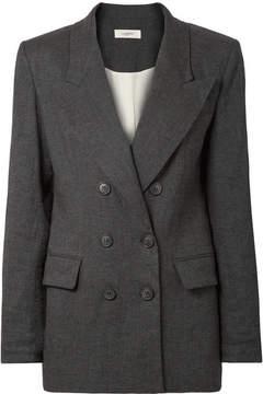 Etoile Isabel Marant Orka Linen-blend Blazer - Charcoal
