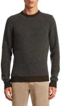 Luciano Barbera Men's Houndstooth Crew Sweater
