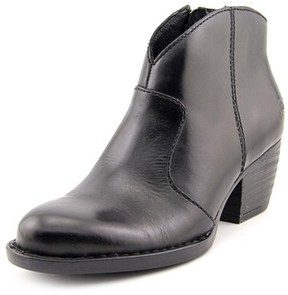 Børn Michel Women Round Toe Leather Black Ankle Boot.