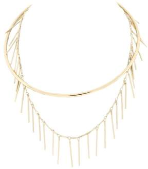 BCBGeneration Womens Chain Fringe Choker