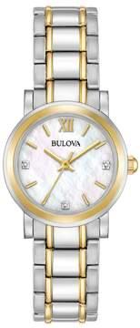 Bulova Women's Diamond Two-Tone Stainless Steel Watch - 98P165