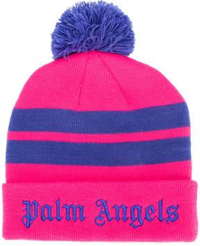 Palm Angels logo stripe beanie