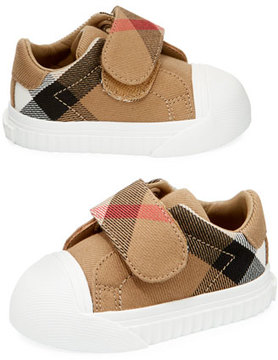 Burberry Beech Check Sneaker, Beige/White, Infant/Toddler