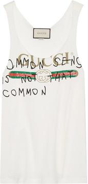 Gucci - Printed Cotton-jersey Tank - White