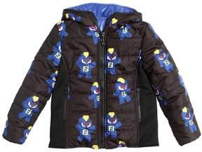 Reversible Nylon Hooded Puffer Jacket