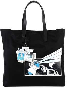 Prada Shoulder Bag With Comics Motif