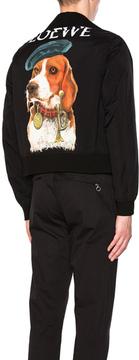 Loewe Dog Bomber Jacket in Black.