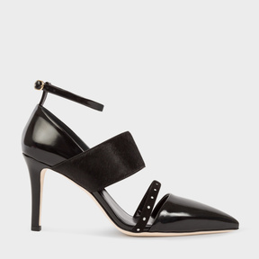 Paul Smith Women's Black Leather And Calf Hair 'Nora' Shoes