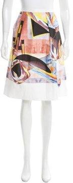 Clover Canyon Abstract Print Knee-Length Skirt