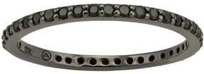 Black Diamond 1/3 Carat T.W. Black Rhodium-Plated 10k White Gold Eternity Ring