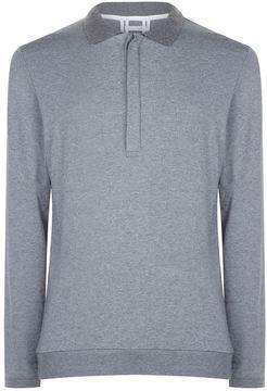Lot 78 Modal-Cashmere Polo Sweater