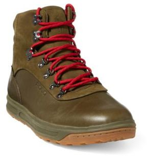 Ralph Lauren Alpine 100 Leather Sneaker Military Green 10