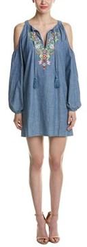 Macbeth Collection Cold-shoulder Shift Dress.