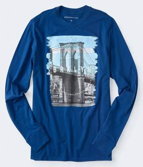 Aeropostale Long Sleeve Brklyn Graphic Tee