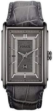 Fossil Truman FS4771 Leather Watch, Grey